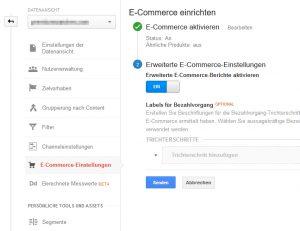 E-Commerce einrichten